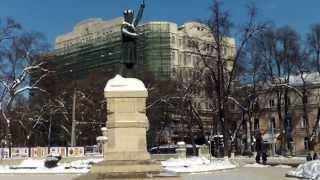 Expo unionistă la monument de domnitor separatist