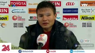 Quang Hải không giấu được nước mắt tiếc nuối - Tin Tức VTV24
