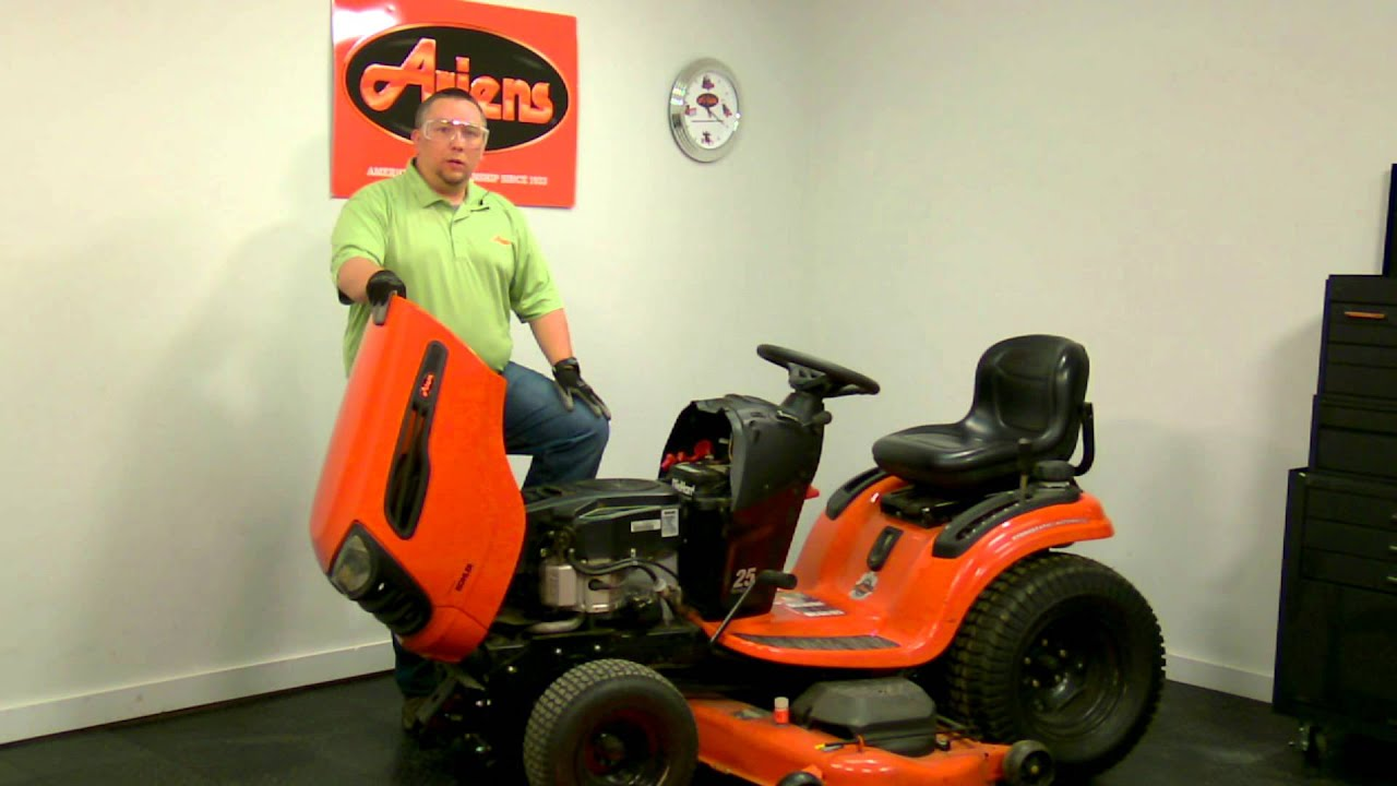 Ariens Lawn Tractor Battery Maintenance Youtube