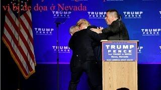 Clip hot: Mật vụ Mỹ đưa ông Trump rời sân khấu vì bị đe dọa ở Nevada