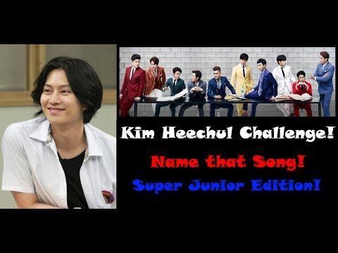 The Heechul Challenge! Name the Kpop Song! Super Junior Edition!