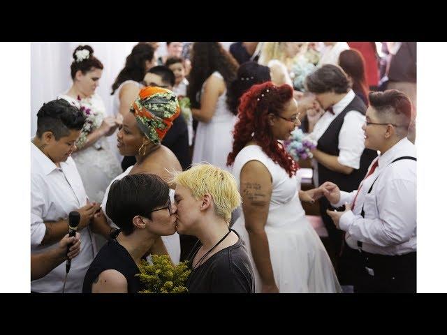 憂新總統不友善 巴西38對同志集體完婚