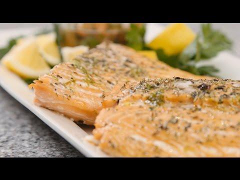 Seasonal Convection Meals featuring Bosch - Roasted Salmon & Lemon Cornmeal Cake
