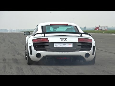 1050HP Audi R8 GT V10 Twin Turbo – LOUD Revs & 0-302 km/h Acceleration!