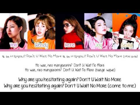 [Color Coded/Han/Eng/Rom] Red Velvet - Don't U Wait No More