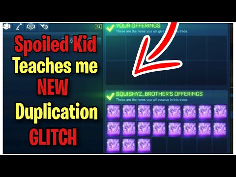 Spoiled Little Kid Teaches me NEW Duplication Glitch! (Scammer Gets Scammed) Rocket League