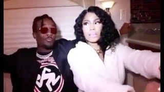 Lil Uzi Vert Teaches Nicki Minaj The Shoulder Roll Dance High AF On Tour Bus