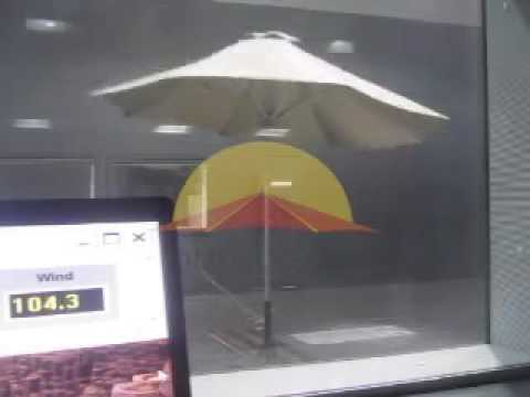 Bambrella Hurricane aluminium parasol tested upto hurricane force winds