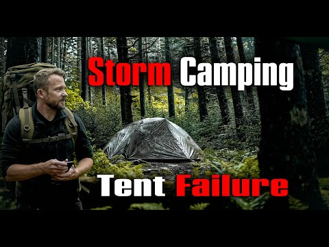Huge Storms - Camping In the OneTigris Cosmitto - Tent Failure and Flooding Adventure
