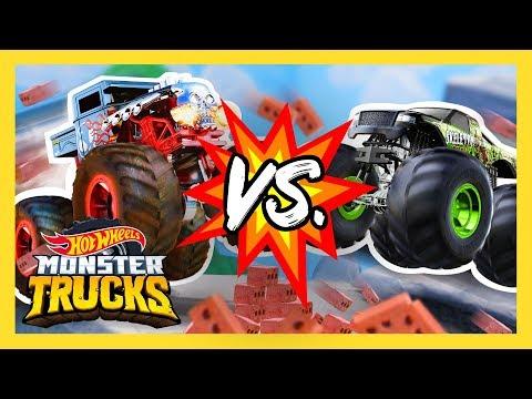 MONSTER TRUCK TEAMS BATTLE IT OUT!   Monster Trucks   Hot Wheels