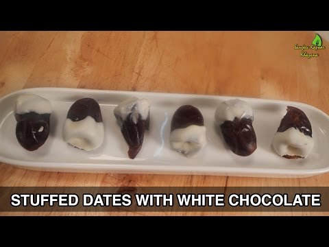 Stuffed Dates with White Chocolate - Ramzan Special - Sanjeev Kapoor Khazana  - dfAY557XMSo -