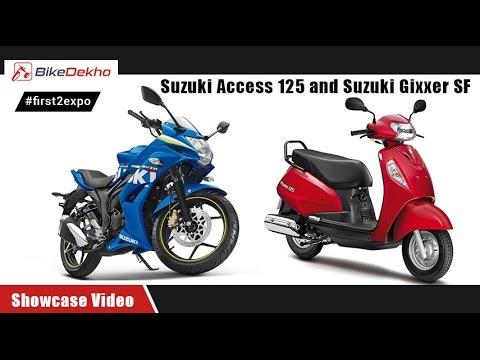 #first2expo : Suzuki Access 125 and Gixxer Gixxer SF | Showcase Video | BikeDekho.com@AutoExpo2016