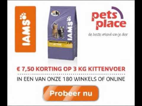 Iams Veggie bannersets voor Pets Place