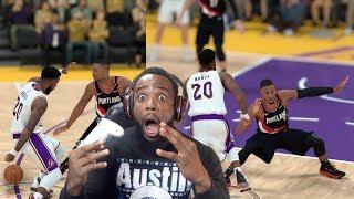 I BROKE Damien Lillard's Ankles In Half! Lakers vs Blazers NBA 2K19 MyCareer Ep.54