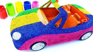 Learn Colors Paint Disney Car Finger Family Peppa Pig Diy How To
