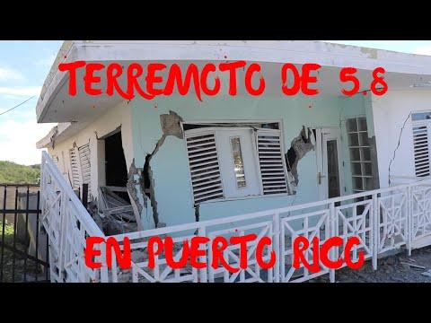 TERREMOTO DIA DE REYES DESDE EL EPICENTRO / EARTHQUAKE IN PUERTO RICO
