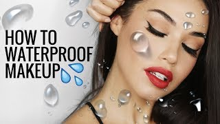 HOW TO WATERPROOF MAKEUP | How to Stop Makeup From Melting or Creasing