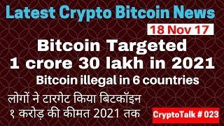 Bitcoin Crypto News 18 Nov17 hindi, Bitcoin anticipated 1 crore in 2021,