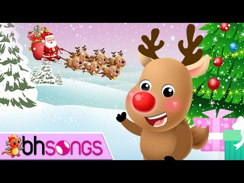 Rudolph The Red Nosed Reindeer Song With Lyrics | Christmas Song