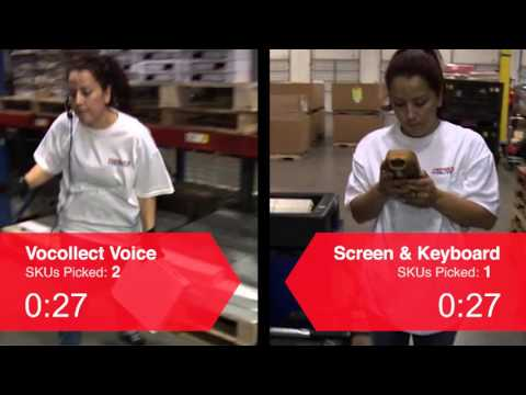 A 50 seconds comparison, conducted by Vocollect