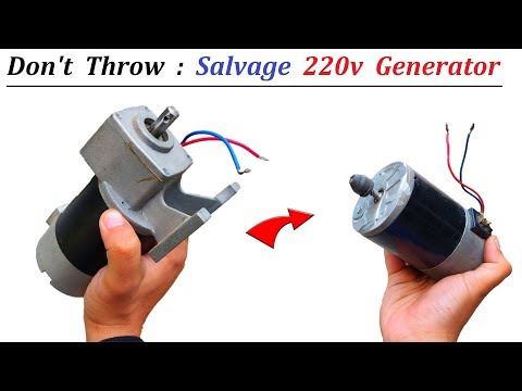 Salvage 220v Generator from Damaged Gear DC Motor - Do Not Throw Away