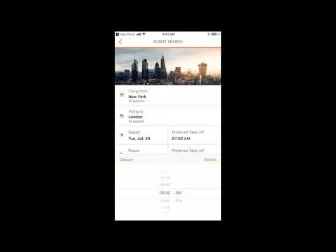 myCWT Mobile Flight Booking Overview