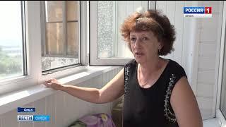 На промышленного альпиниста в Омске упала бетонная плита
