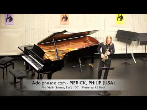 Dinant 2014 - Philip Pierick First Violin Sonata, BWV 1001 Presto by J S Bach