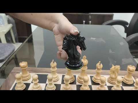 ARTHUR LUXURY STAUNTON CHESS PIECES ONLY SET -EBONY WOOD- TRIPLE WEIGHTED