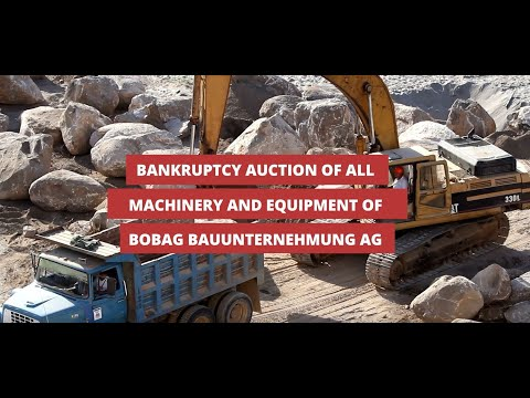 Insolvency Auction! Construction machinery & Inventory - Dumpers, Drilling Machines, Hand Tools etc.