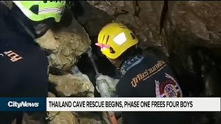 4 of 12 boys rescued from cave in Thailand