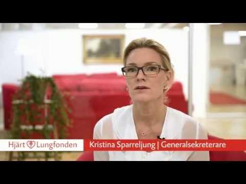 Hjärt-Lungfondens generalsekreterare Kristina Sparreljung