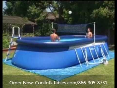 intex oval ellipse frame pool setup instructions youtube. Black Bedroom Furniture Sets. Home Design Ideas