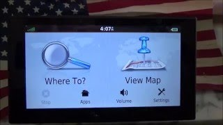 Garmin Nuvi 2689LMT Map and Vehicle Settings