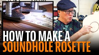 Watch the Trade Secrets Video, No-fail method for making custom guitar soundhole rosettes