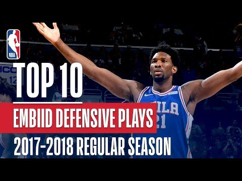Joel Embiid's Top 10 Defensive Plays of the 2017-2018 NBA Regular Season