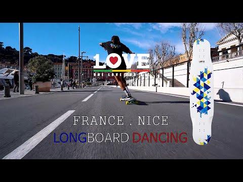 Video 1LOVE Planche longboard TAPETE 44 Lemon Black