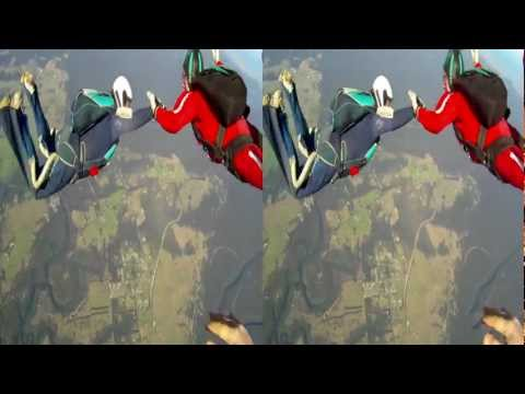 3D GoPro Skydiving - Jump 2