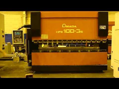 AMADA HFE-1003S 110 Ton x 10' 8-Axis CNC Down Acting Press Brake