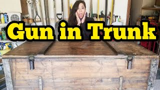 MILITARY GUN TRUNK I Bought Abandoned Storage Unit Locker Opening Mystery Boxes Storage Wars Auction