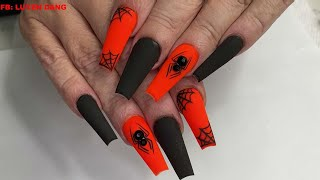 Halloween Nails Spider | Nail Art | | Nails Tutorial |