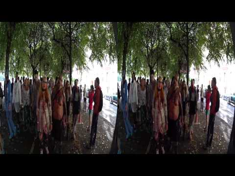 Stockholm Zombie Walk 2014 - 60 fps - 3D - binaural sound