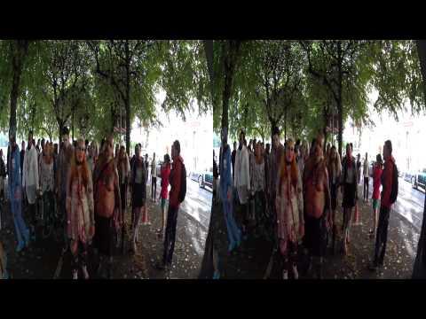 Stockholm Zombie Walk 2014 - 60 fps - 3D - binaural sound