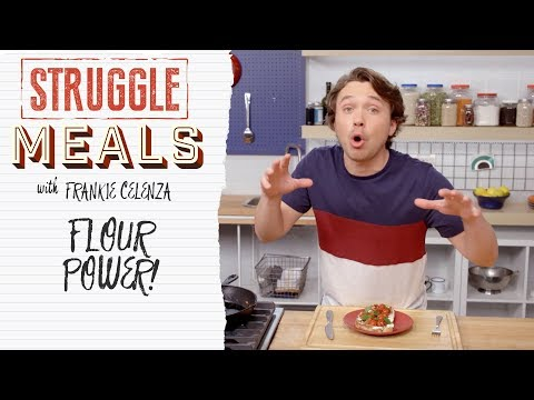 Open Faced Sandwich with Homemade Bread | Struggle Meals