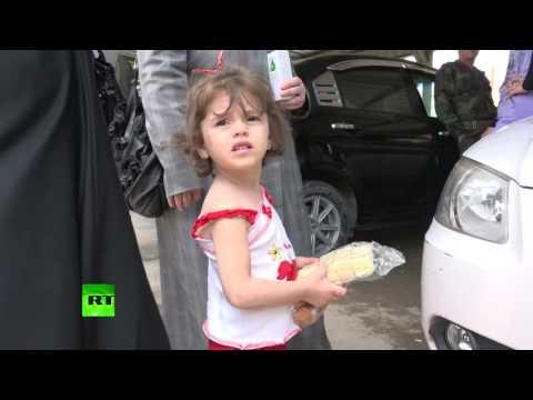 Россия доставила в провинцию Дамаск в Сирии около трех тонн гумпомощи