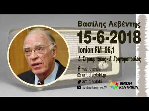 Β. Λεβέντης / Στρουμπάκος-Γρηγορόπουλος, Ιόνιον FM / 15-6-2018