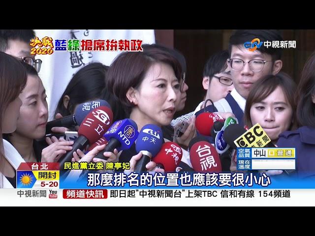 民進黨不分區立委名單出爐 游錫?排第8
