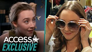 Saoirse Ronan Reacts To Throwback Video Of Herself On Teen Shopping Spree With Access Hollywood