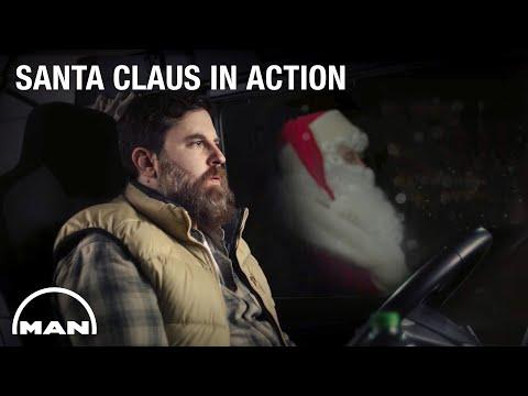 Santa Claus in action