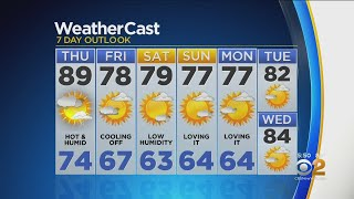 New York Weather: CBS2 8/21 Evening Forecast at 5PM